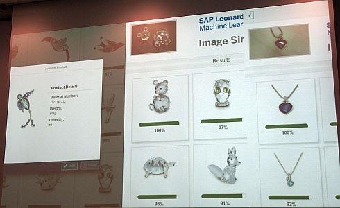修理センターにおける商品照合ソリューションの画面例