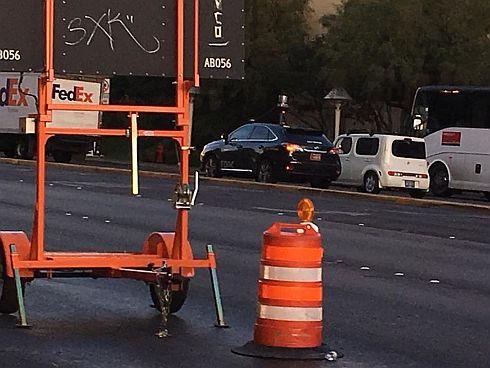 連日ラスベガスの街中を走っていた自動運転車(Torc Robotics)