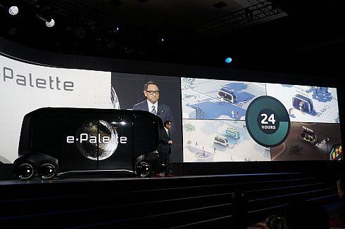豊田章男氏と「e-Palette」
