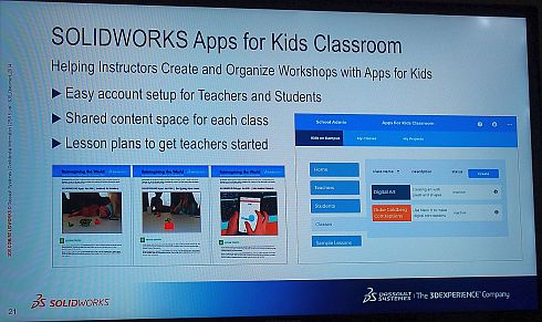 「SOLIDWORKS Apps for Kids Classroom」の概要