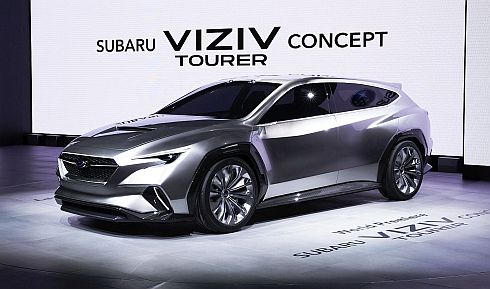 スバルのツアラーをテーマとするコンセプトカー「SUBARU VIZIV TOURER CONCEPT」