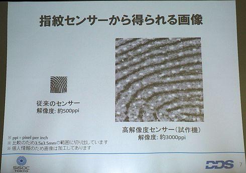 指紋センサーから得られる画像