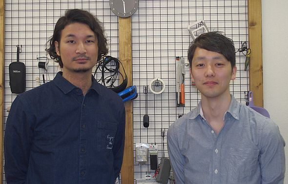 exiiiの山浦博志氏(右)と金子大和氏(左)