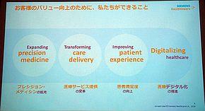 シーメンスヘルスケアが推進する4つの施策