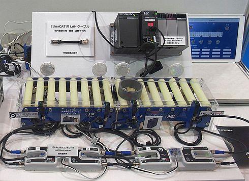 「HXシリーズ」を用いた搬送システムのデモ