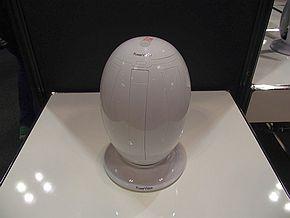 「PowerEgg」は持ち運びの際は卵型