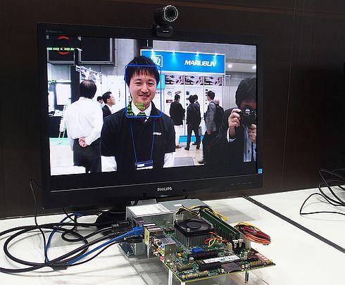 「Ryzen Embedded V1000」による顔の検出と認識のデモ