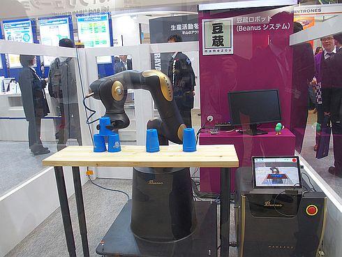 豆蔵が自社開発した協働ロボット「Beanusシステム」