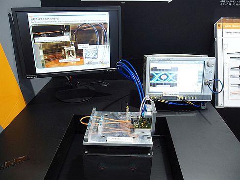 タイコ エレクトロニクス ジャパンが展示した伝送速度10Gbpsの車載データリンクシステム