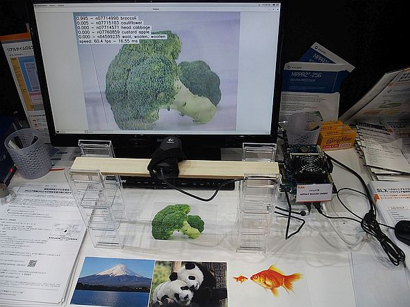 「eMCOS」と「MPPA-256」を用いて物体認識を行うデモ