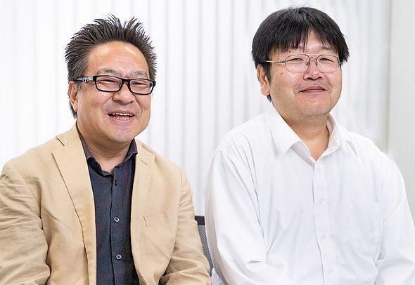 SSEの派遣エンジニアとして充実した生活を送る後久氏(左)と佐藤氏(右)