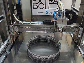 超大型3Dプリンタによる造形の様子