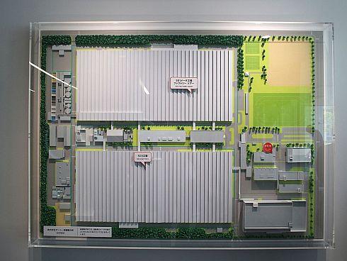 高棚製作所の構内図の模型