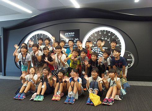 TAKATANAファクトリーツアーを先行体験した高棚小学校の小学5年生の皆さん