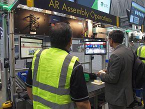 ARを活用する「組み立て作業」の製造ステーション