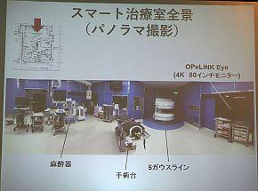 信州大学病院の「スマート治療室」の全景