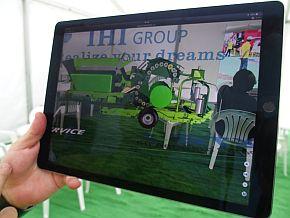 大型農機の展示にARを活用したIH...