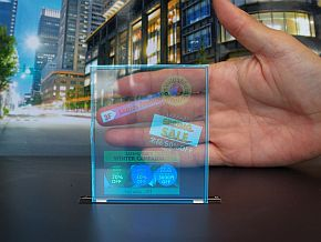 透明液晶ディスプレイの透過率は80%