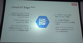 「Cloud IoT Edge」の機能