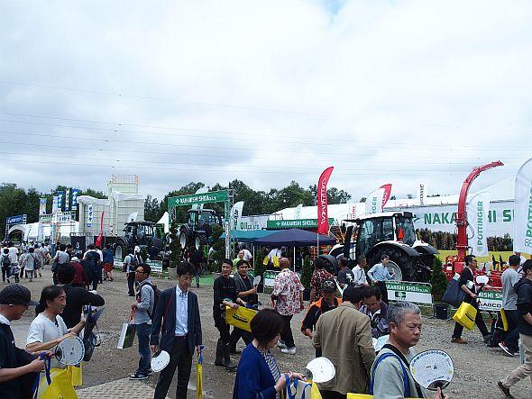 「第34回国際農機展」の会場の様子
