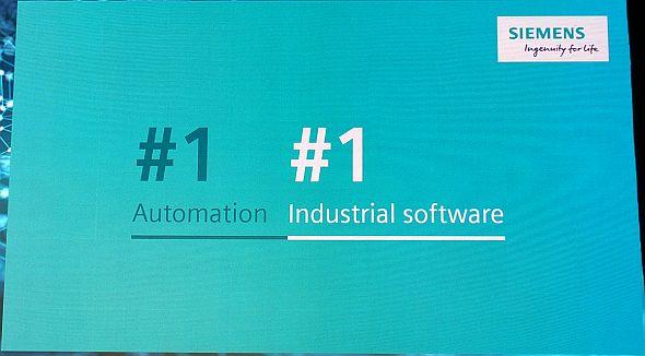 シーメンスは自動化だけでなく産業向けソフトウェアでもNo.1になったという