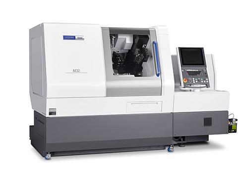 主軸台移動形CNC自動旋盤をモデ...