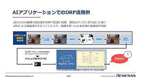 「RZ/A2M」のDRPは、入力画像の前処理を高速に行える