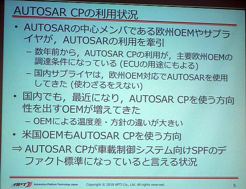 AUTOSAR CPの利用状況