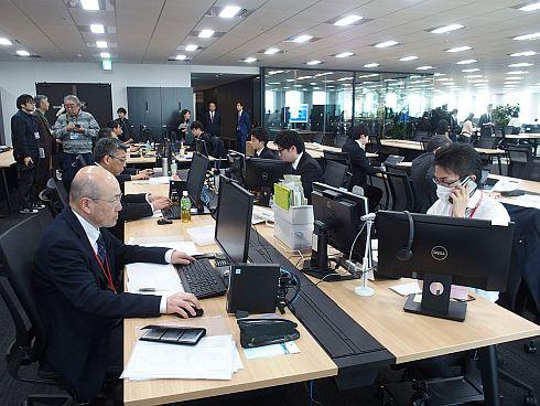 アイリスグループ東京本部の研究開発部門エリア