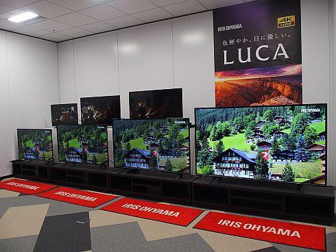 新規参入を発表したテレビ「LUCA」7品種のラインアップ