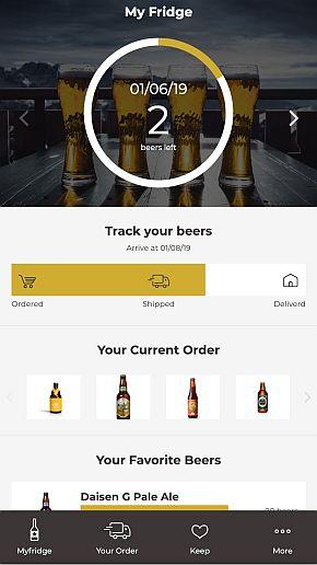 専用スマートフォンアプリの画面イメージ