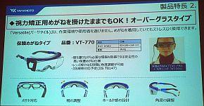 保護メガネタイプのフレーム
