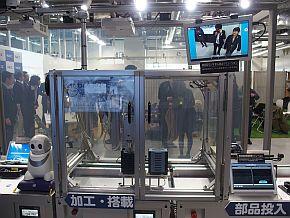 NEC DX Factoryコンセプトラインの「加工・搭載」