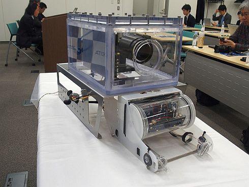 トリマティスが開発した直線測距型LiDARを搭載するROVの試作機