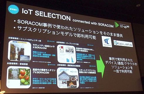 「IoT SELECTION connected with SORACOM」の概要