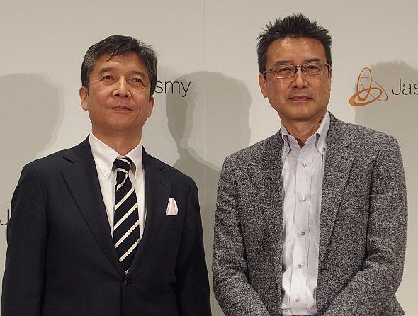 ジャスミーの佐藤一雅氏(右)と吉田雅信氏(左)