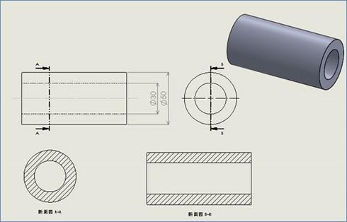 円筒に関連するサイズ形体の例(JISを参考に作成)