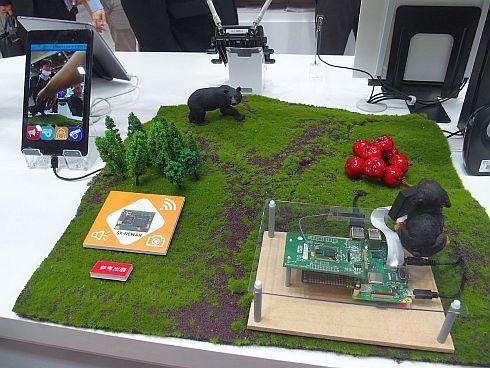 サイレックス・テクノロジーによるIEEE 802.11ahを用いた農園見守りシステムのデモ