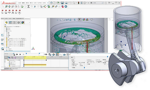 SOLIDWORKSアドインツール「Particleworks for SOLIDWORKS」