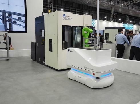 ファクトリーオートメーションシステムの一環として開発。今後、自社工場で検証を進めていくという