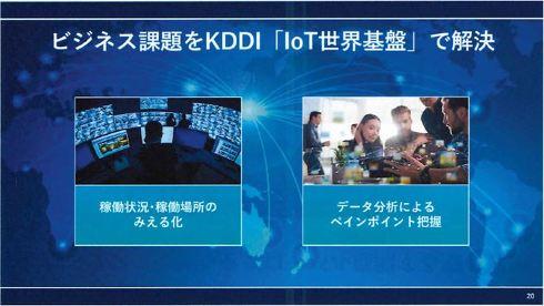 ビジネス課題を解決するKDDIの「IoT世界基盤」
