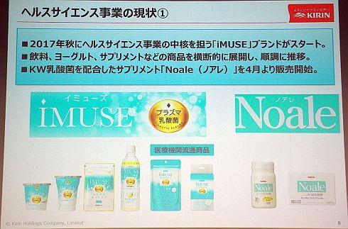 ヘルスサイエンス事業部の中核製品は「iMUSE」と「Noale」