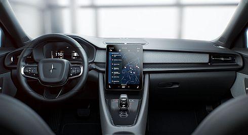 「Android Automotive OS」を採用した「Polestar 2」の車載情報機器