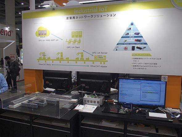 「Industrial IoT」ゾーンのOPC UAサーバ機能関連の展示