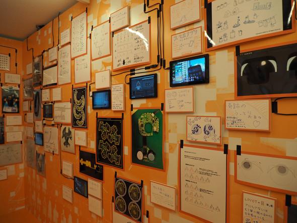 日々生み出されるアイデア、「LOVOT MUSEUM」では開発時に使われた貴重な資料や写真が多数展示されている