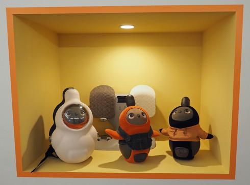 GROOVE Xのオフィスに常設されている「LOVOT MUSEUM」にディスプレイされた「LOVOT」
