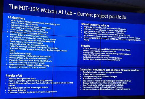 MIT-IBM Watson AIラボで研究が進められているプロジェクトの数々
