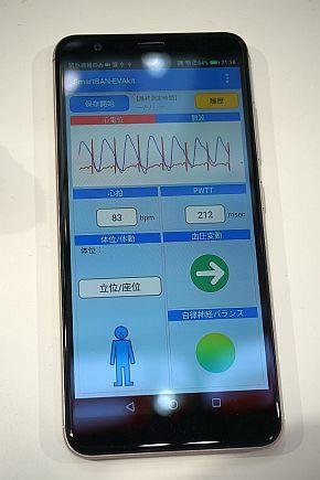スマートフォンによる表示例