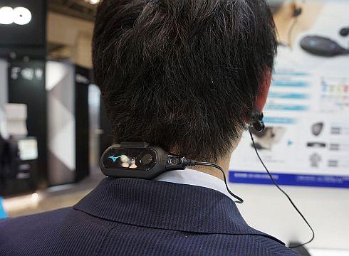 ワイヤレス脈拍計「MiKuHa」の装着例