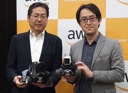 大日本印刷の福田佑一郎氏(左)とAWSジャパンの瀧澤与一氏(右)